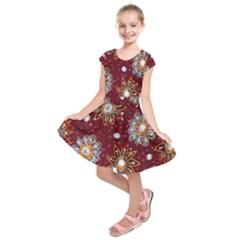 India Traditional Fabric Kids  Short Sleeve Dress