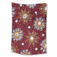 India Traditional Fabric Large Tapestry