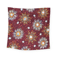 India Traditional Fabric Square Tapestry (small)