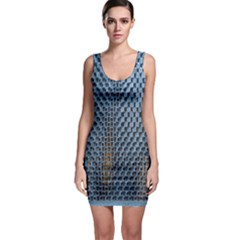 Parametric Wall Pattern Sleeveless Bodycon Dress