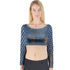 Parametric Wall Pattern Long Sleeve Crop Top