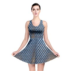Parametric Wall Pattern Reversible Skater Dress