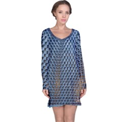 Parametric Wall Pattern Long Sleeve Nightdress