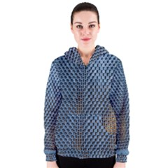 Parametric Wall Pattern Women s Zipper Hoodie