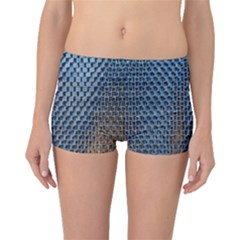 Parametric Wall Pattern Boyleg Bikini Bottoms