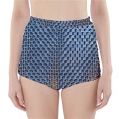 Parametric Wall Pattern High Waisted Bikini Bottoms