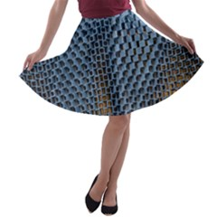Parametric Wall Pattern A Line Skater Skirt