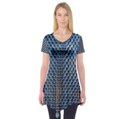 Parametric Wall Pattern Short Sleeve Tunic