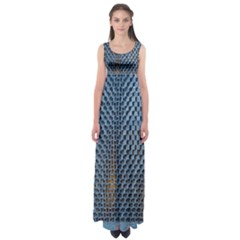 Parametric Wall Pattern Empire Waist Maxi Dress