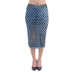 Parametric Wall Pattern Midi Pencil Skirt