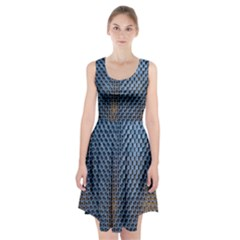 Parametric Wall Pattern Racerback Midi Dress