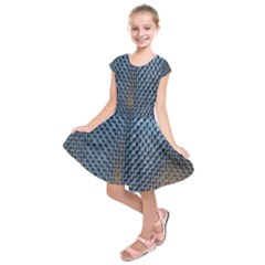 Parametric Wall Pattern Kids  Short Sleeve Dress