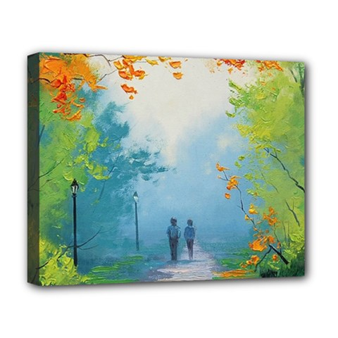 Park Nature Painting Deluxe Canvas 20  X 16