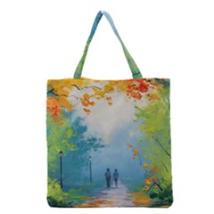 Park Nature Painting Grocery Tote Bag