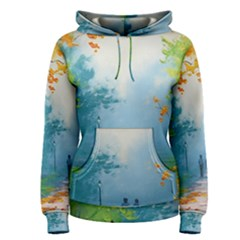 Park Nature Painting Women s Pullover Hoodie