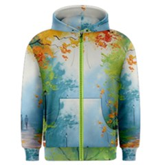 Park Nature Painting Men s Zipper Hoodie