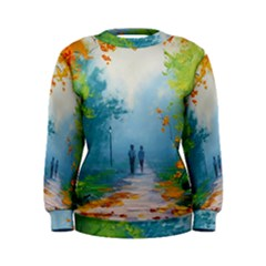 Park Nature Painting Women s Sweatshirt