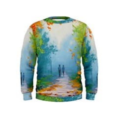 Park Nature Painting Kids  Sweatshirt
