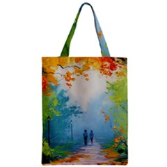 Park Nature Painting Zipper Classic Tote Bag