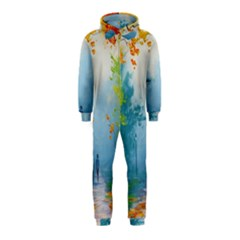 Park Nature Painting Hooded Jumpsuit (kids)