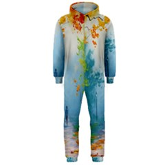 Park Nature Painting Hooded Jumpsuit (men)