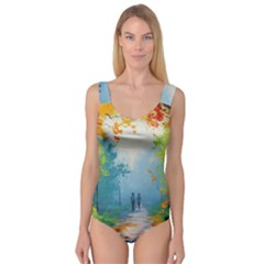Park Nature Painting Princess Tank Leotard