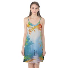 Park Nature Painting Camis Nightgown