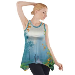 Park Nature Painting Side Drop Tank Tunic