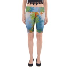 Park Nature Painting Yoga Cropped Leggings