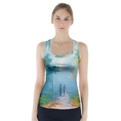Park Nature Painting Racer Back Sports Top