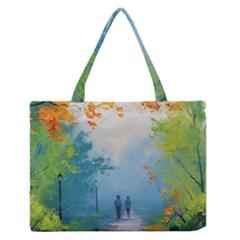 Park Nature Painting Medium Zipper Tote Bag