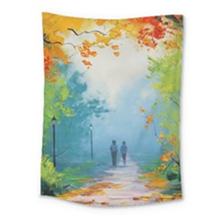 Park Nature Painting Medium Tapestry