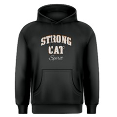 Black Strong Cat Spirit  Men s Pullover Hoodie