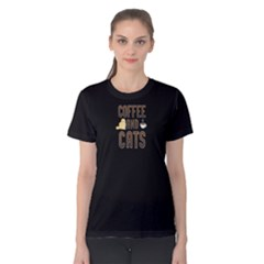 black coffee and cats Women s Cotton Tee