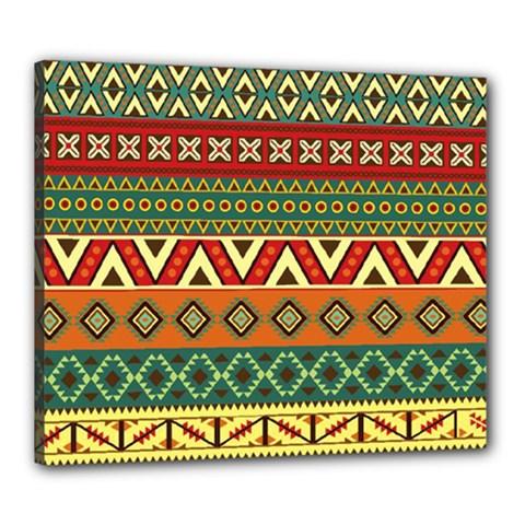 Mexican Folk Art Patterns Canvas 24  x 20