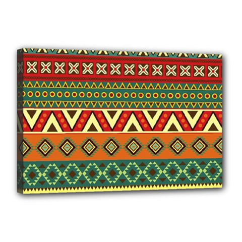 Mexican Folk Art Patterns Canvas 18  x 12