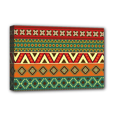 Mexican Folk Art Patterns Deluxe Canvas 18  X 12