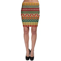 Mexican Folk Art Patterns Bodycon Skirt