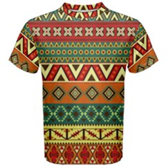 Mexican Folk Art Patterns Men s Cotton Tee