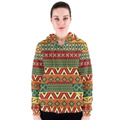 Mexican Folk Art Patterns Women s Zipper Hoodie