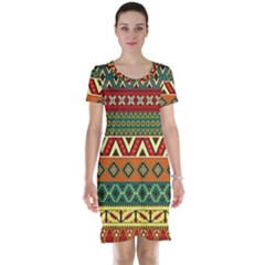 Mexican Folk Art Patterns Short Sleeve Nightdress