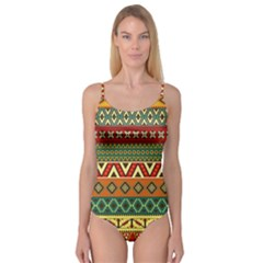 Mexican Folk Art Patterns Camisole Leotard