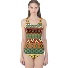 Mexican Folk Art Patterns One Piece Swimsuit