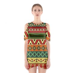 Mexican Folk Art Patterns Shoulder Cutout One Piece