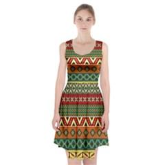 Mexican Folk Art Patterns Racerback Midi Dress