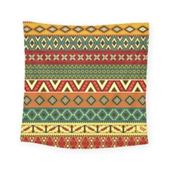 Mexican Folk Art Patterns Square Tapestry (small)