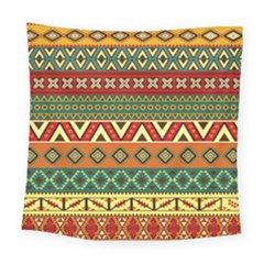 Mexican Folk Art Patterns Square Tapestry (large)