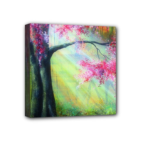 Forests Stunning Glimmer Paintings Sunlight Blooms Plants Love Seasons Traditional Art Flowers Sunsh Mini Canvas 4  X 4