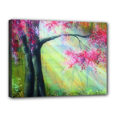 Forests Stunning Glimmer Paintings Sunlight Blooms Plants Love Seasons Traditional Art Flowers Sunsh Canvas 16  X 12