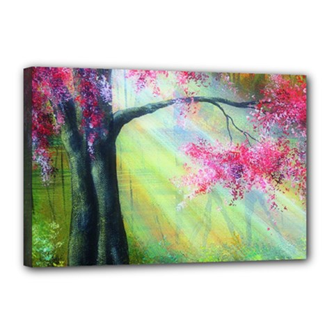 Forests Stunning Glimmer Paintings Sunlight Blooms Plants Love Seasons Traditional Art Flowers Sunsh Canvas 18  X 12